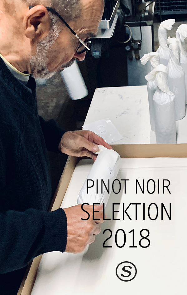 Pinot Noir Selektion 2018; 17,45 € je Flasche