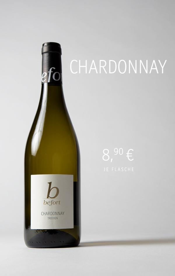 Chardonnay, 8,90 €/Fl.