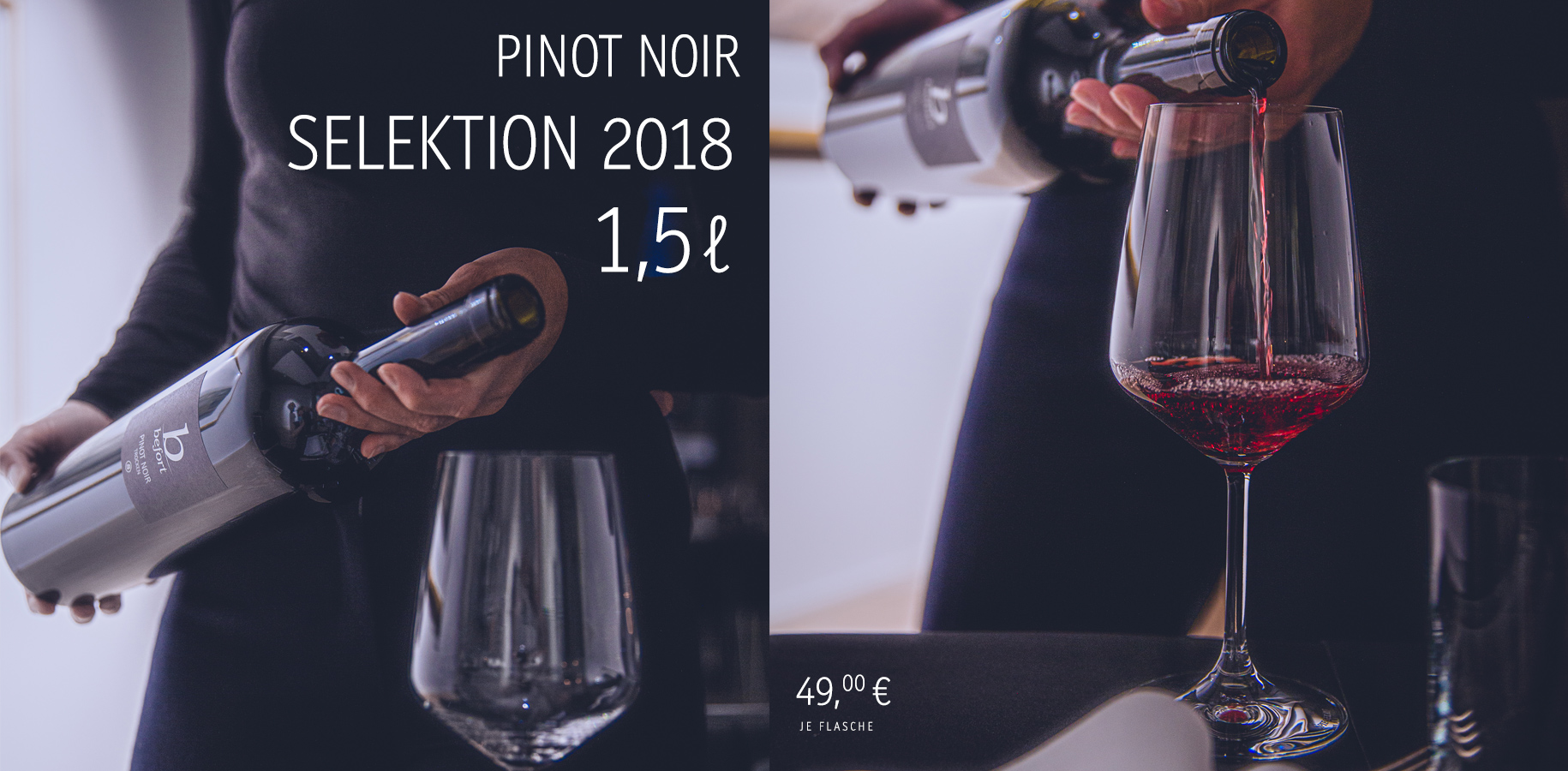 Pinot Noir »S«, Magnum 1,5L, 49,00€/Fl. (inkl. Versandkosten)