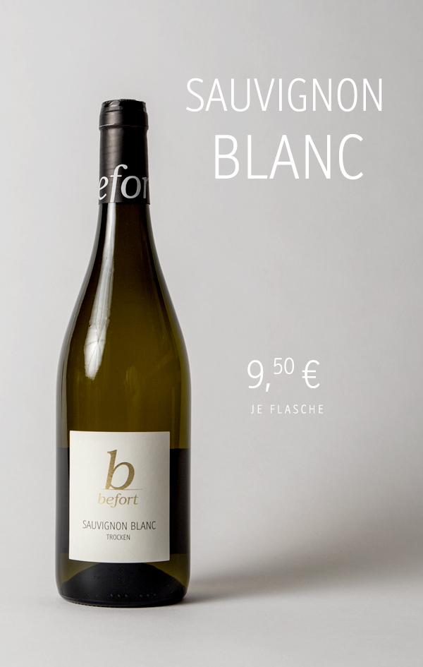 Sauvignon Blanc 2020; 9,50 € je Flasche