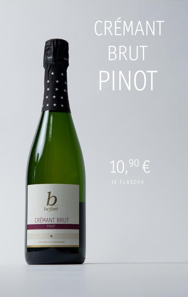 Cremant Brut; 10,90 € je Flasche