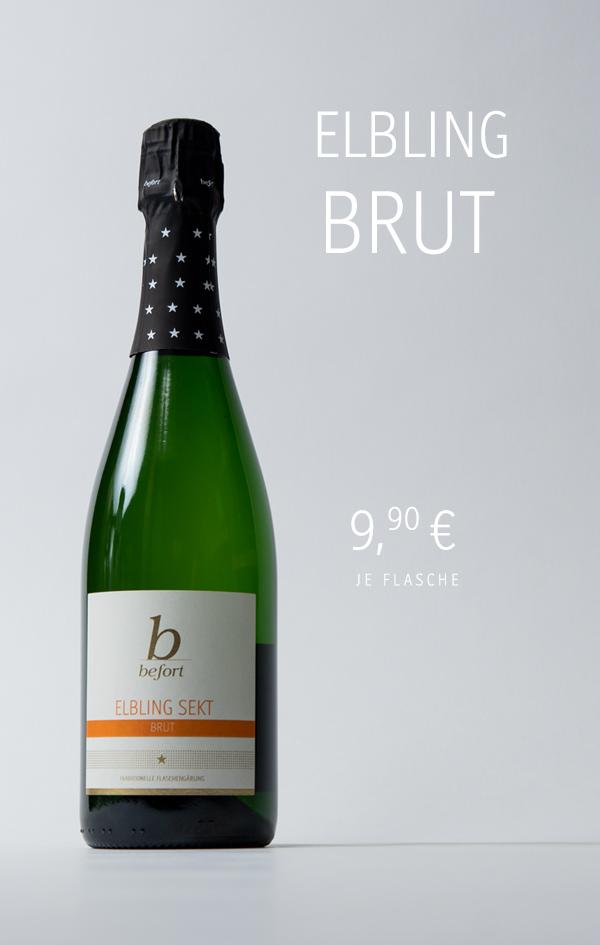 Elbling Sekt Brut, 9,90 €/Fl.